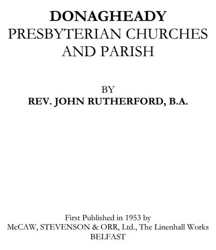 Donagheady Presbyterian Churches and Parishes